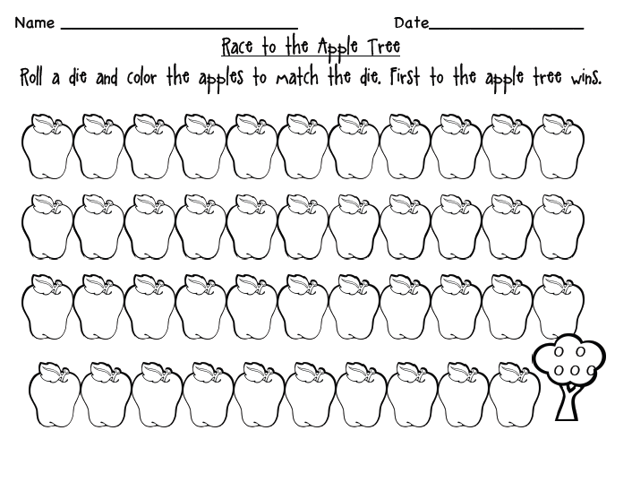 Kindergarten Kids At Play: Freebie: Math Apple Activities