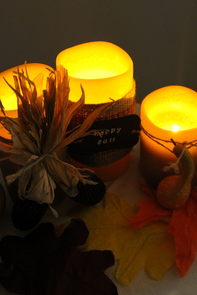 decorative+fall+candles 016 How to Decorate Flameless Candles + Pumpkinpalooza Contest!