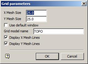 Grid parameters panel