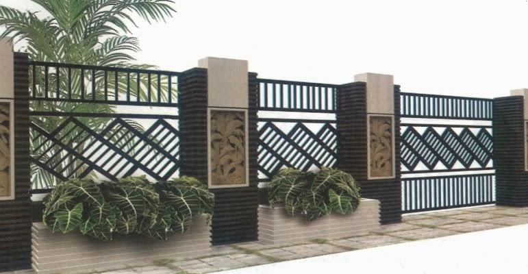 pagar rumah modern, contoh pagar modern