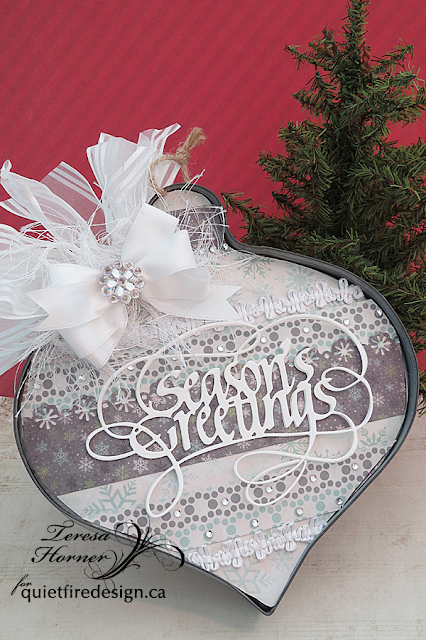 Quietfire creations a way with words christmas ornaments - Ornament tapete weiay ...