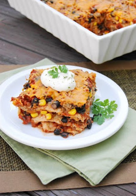 Spicy Tortilla Lasagna