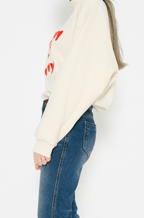 Textured Quote Patch Pullover