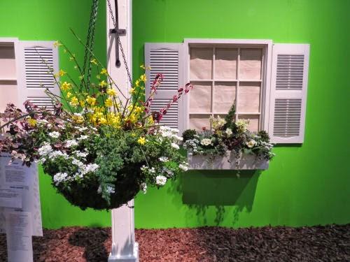 Philadelphia Flower Show 2015 Window Box and Lamp Post: Robert Redford