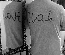 Te odio pero a la vez te amo.