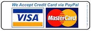 我们接受信用卡/credit card付款