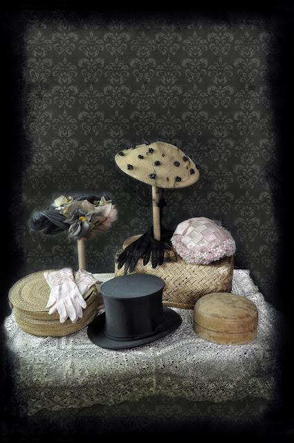 Vintage hat display