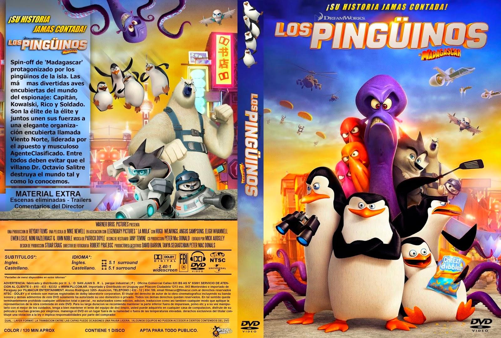 Los Pinguinos De Madagascar La Pelicula DVD