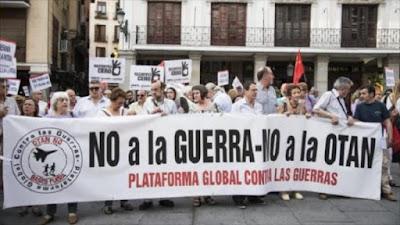 Protesta en Madrid contra cesión de base Morón a EEUU