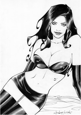 comic pin up