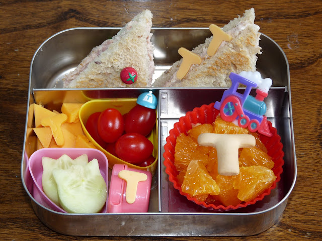 Letter T bento lunch