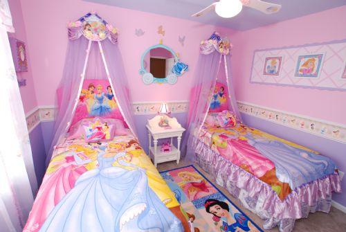 Dormitorios princesas disney dormitorios con estilo - Pink and purple kids room ideas ...