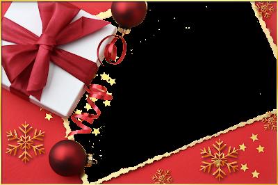 marco para foto navideño