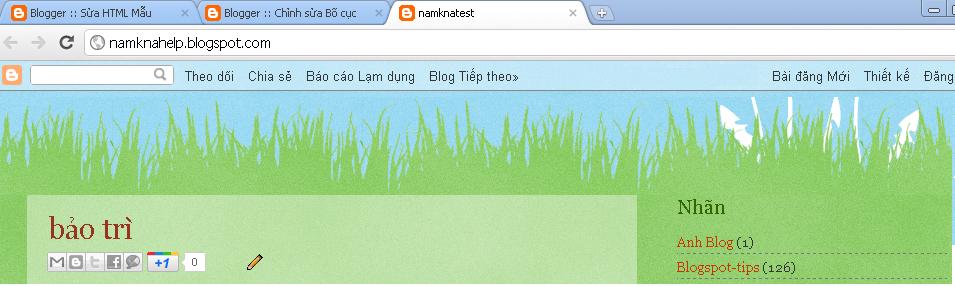 Hướng dẫn chèn Flash vào header blogspot