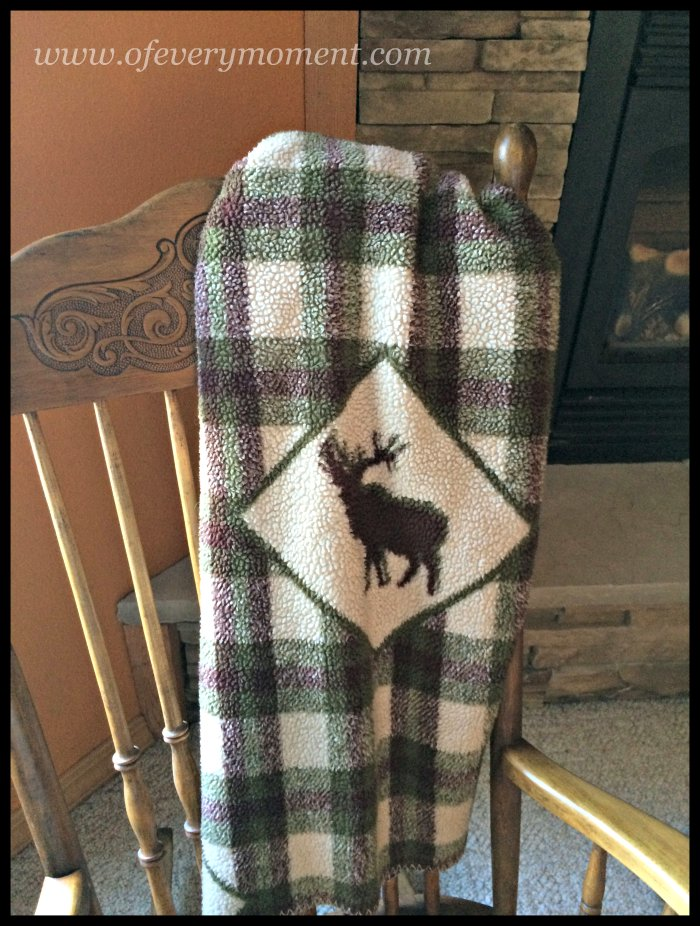 blanket, plaid, elk