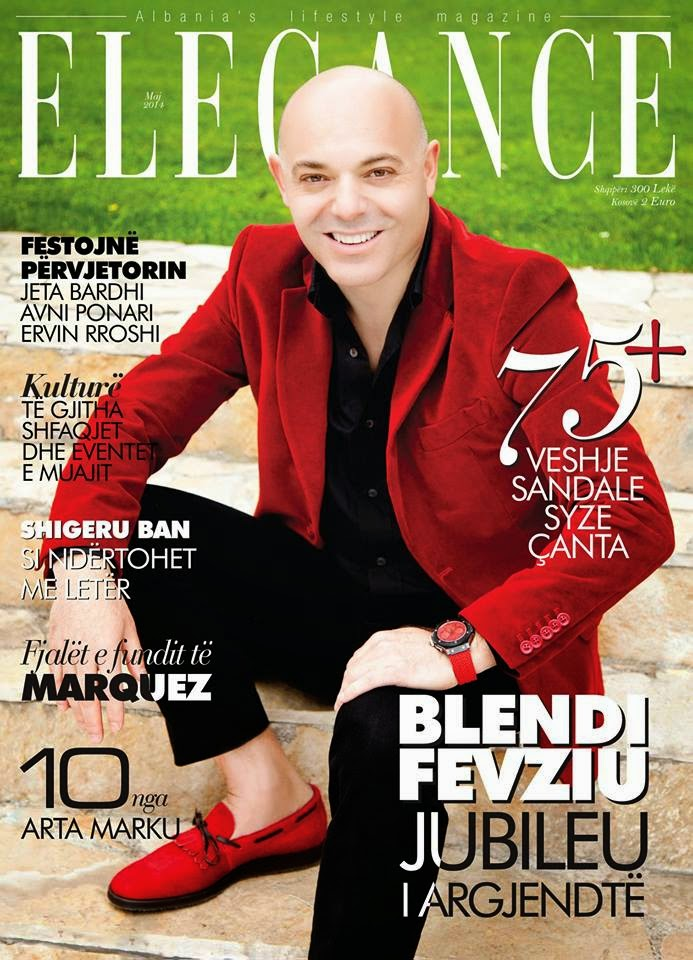 "Blendi Fevziu ne kopertinen ""Elegance"" Maj 2014"