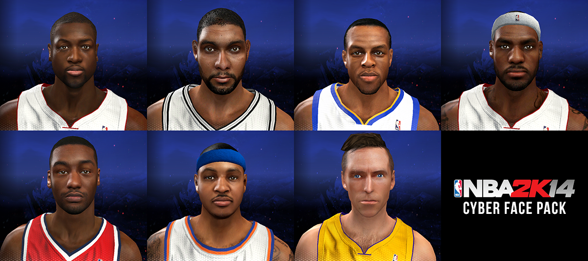 NBA 2K14 CyberFace Pack Mods