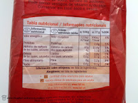 Información nutricional del pan de molde integral Certossa de Lidl.