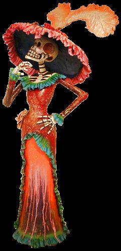 \u0026quot;la Catrina\u0026quot;, personaje de José Guadalupe Posada) y esposa deMictlantecuhtli, Señor de la tierra de los muertos. Las festividades eran dedicadas a la