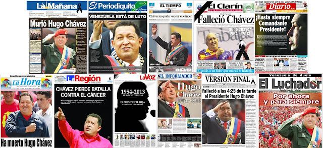 La muerte de Chávez en medios venezolanos