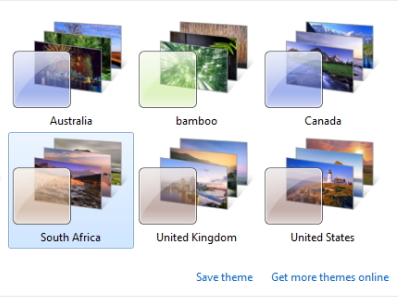 Regional Theme Windows 7
