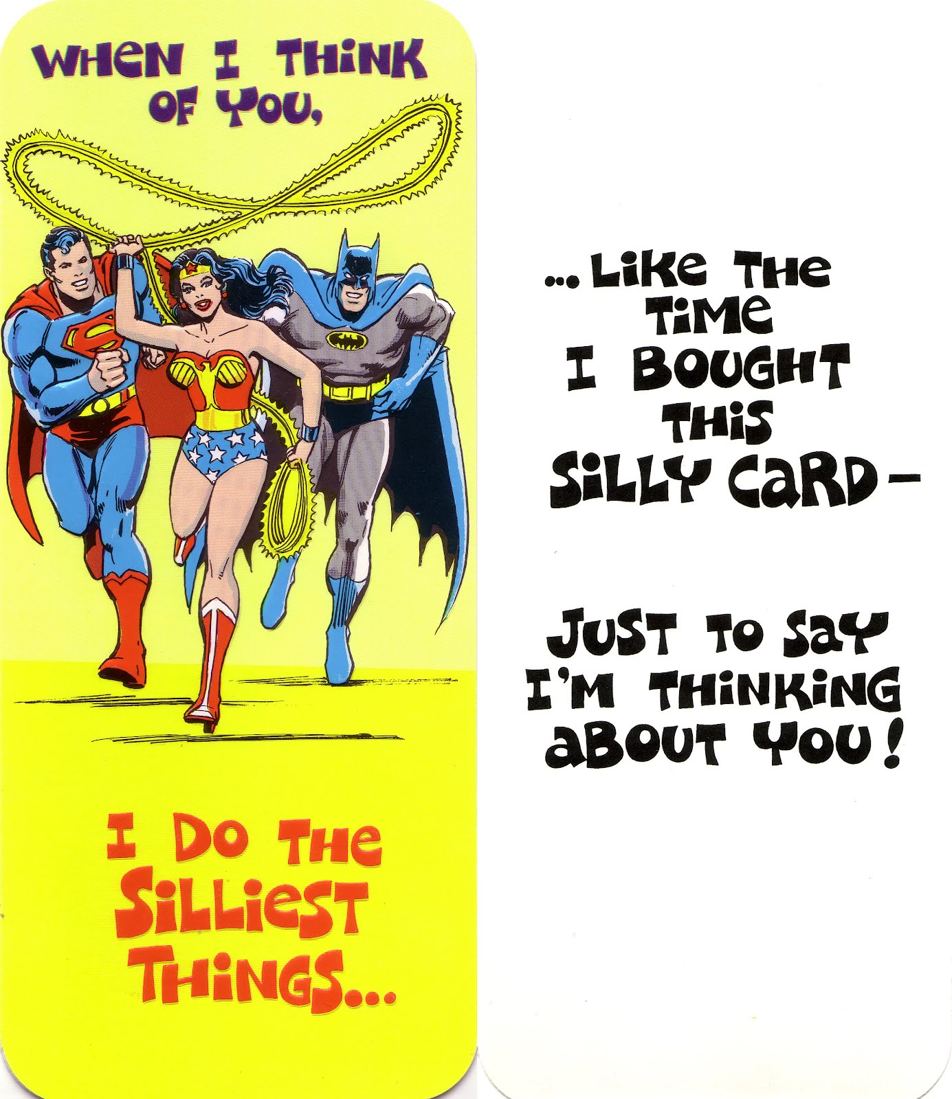 my comic board banners and more superman and dc greeting cards 7. Black Bedroom Furniture Sets. Home Design Ideas