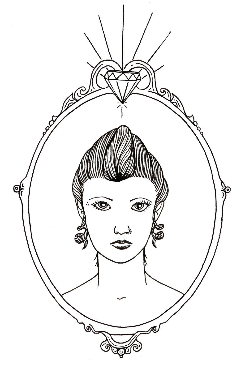 La fille au miroir for Fille au miroir