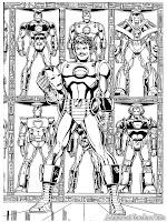 Mewarnai Iron Man Dan Baju Besinya