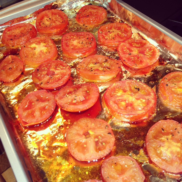 perfectly roasted tomatoes tomato cheese basil perfect combination 6 ...