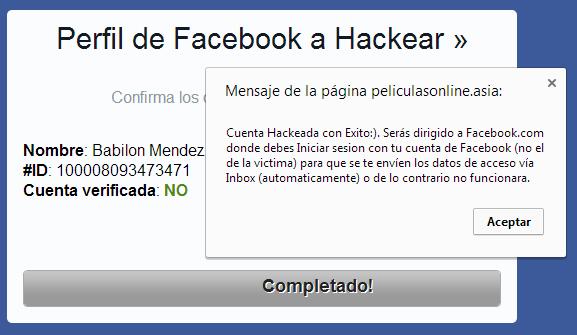 Facebook Hack Peliculas Online