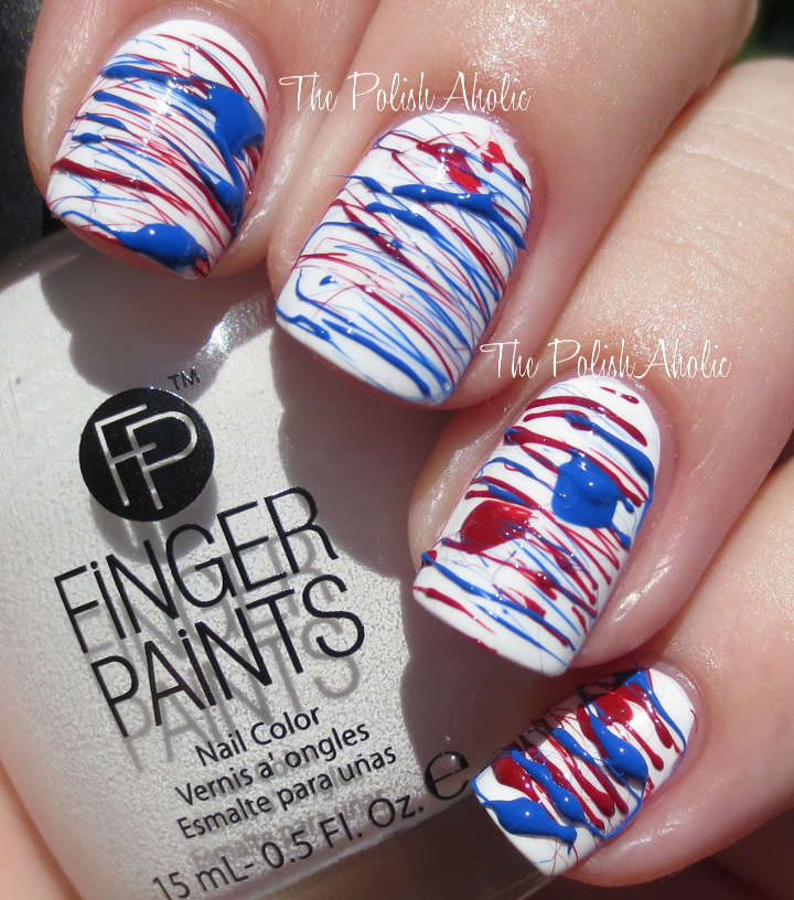 The PolishAholic: 4th of July Sugar Spun Nail Art