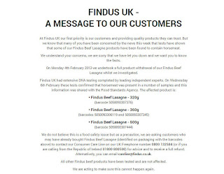 Findus UL Website 9 February 2013