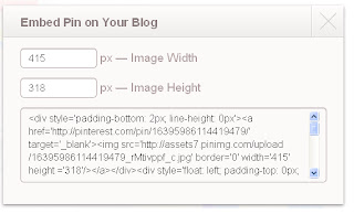 Pinterest embed on your blog