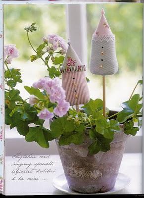 palitinho de vaso com molde - Tilda