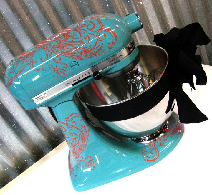 Notions from nonny customize your kitchen aid mixer - Decorated kitchenaid mixer ...