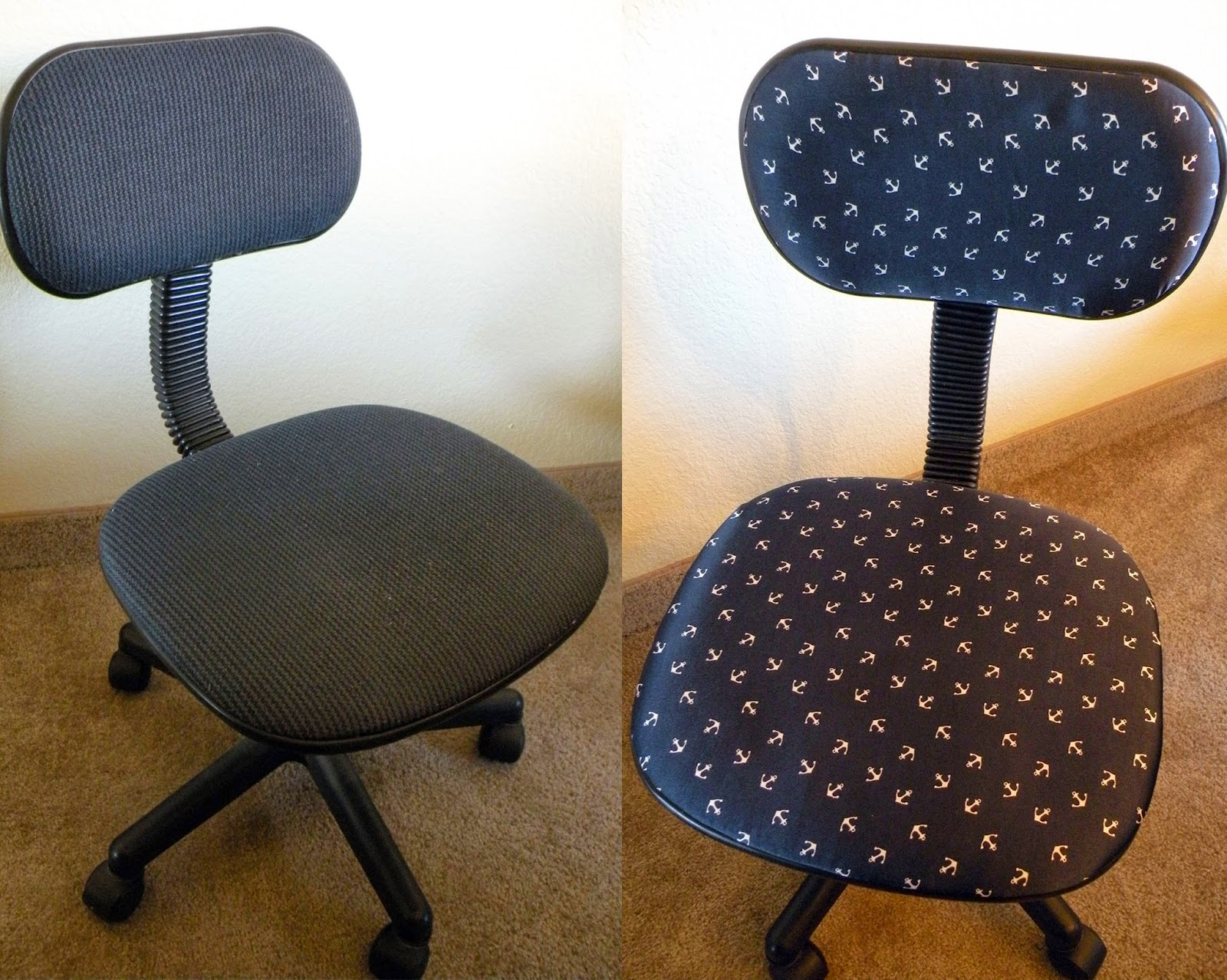 DIY Office Chair Reupholstery
