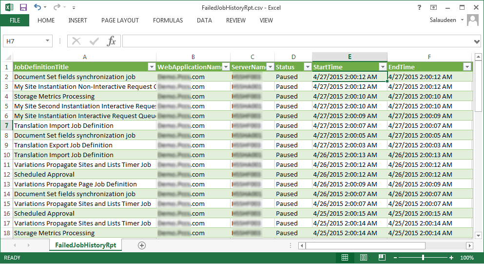 Get SharePoint Timer Job History using PowerShell | Salaudeen ...