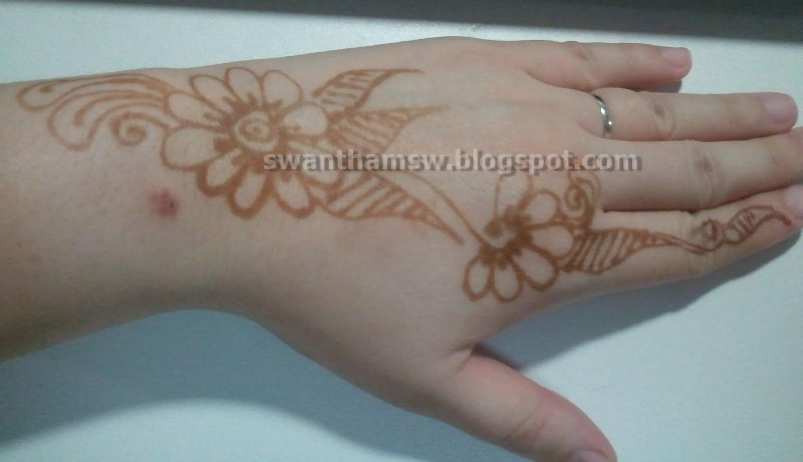 Swan tham blog i got my tattoo henna tattoo again for Henna tattoo process