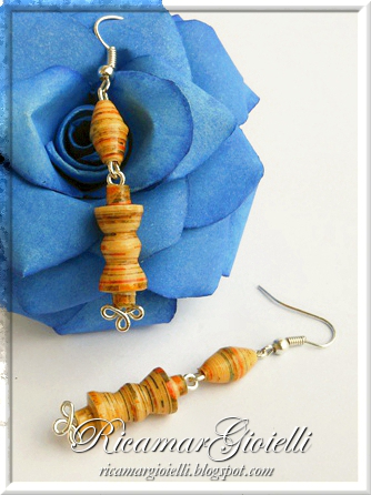Paper beads oval and bow tie