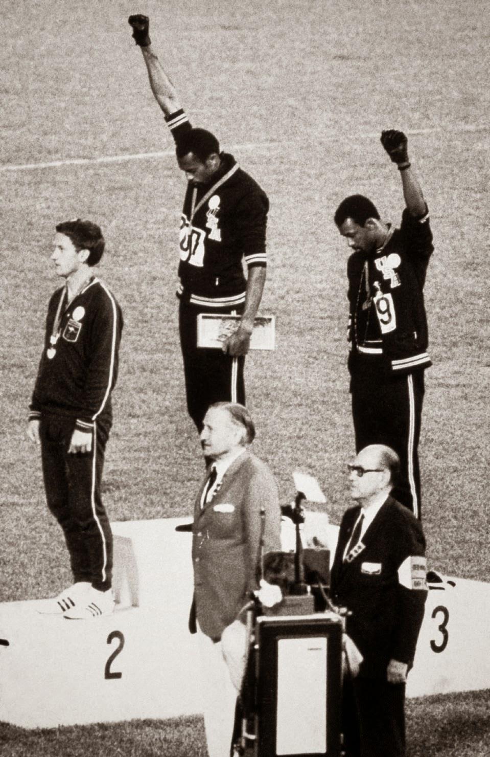 Smith Carlos 1968 Olimpiadi Pantere Nere Numeri ordinali francesi nombres ordinaux