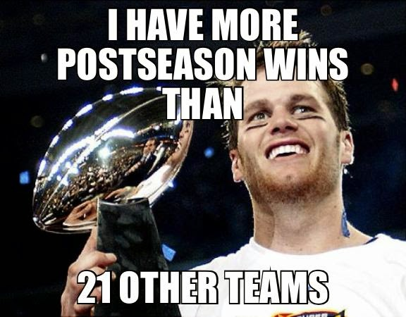 I have more postseason wins than 21 other teams