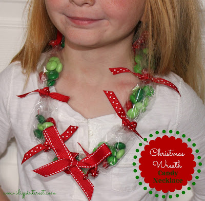wreath candy necklace