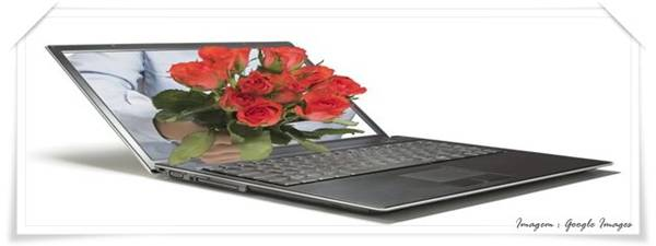 Notebook com rosas