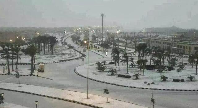 EGIPTO CUBIERTO DE NIEVE, 14 DE DICIEMBRE 2013
