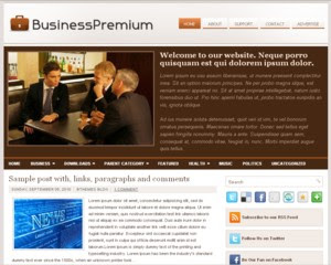 Business Premium Blogger Template