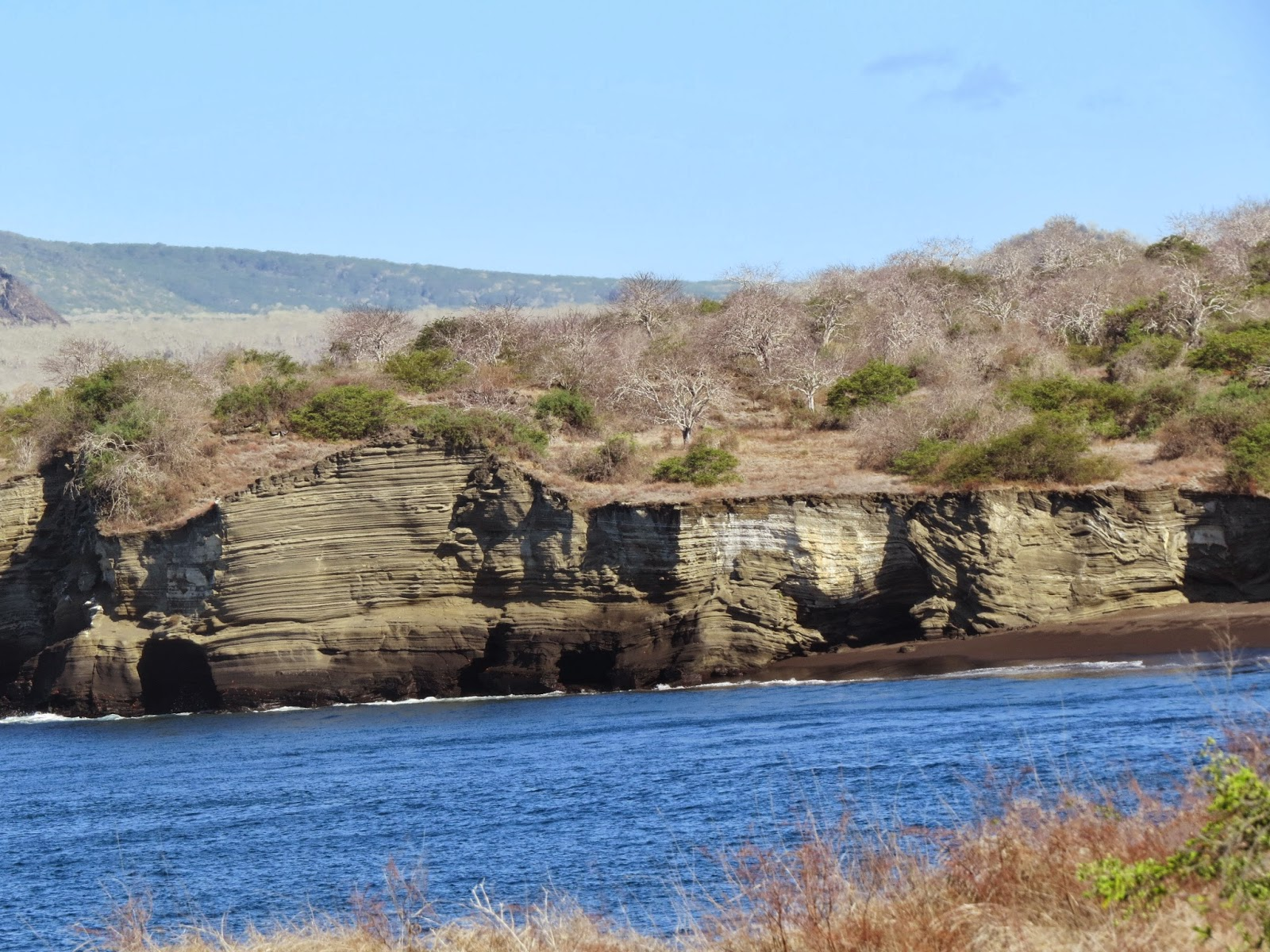 Galapagos Islands Volcanic cliffs