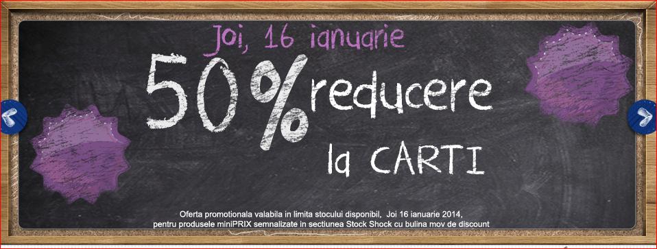 reduceri 50% carti