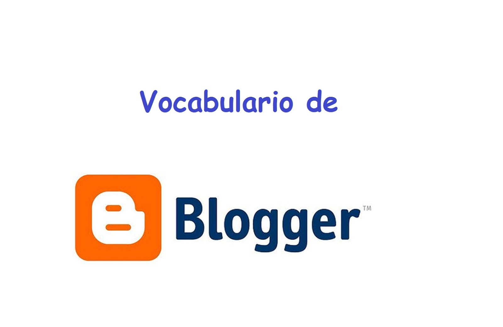 Vocabulario de bloggera