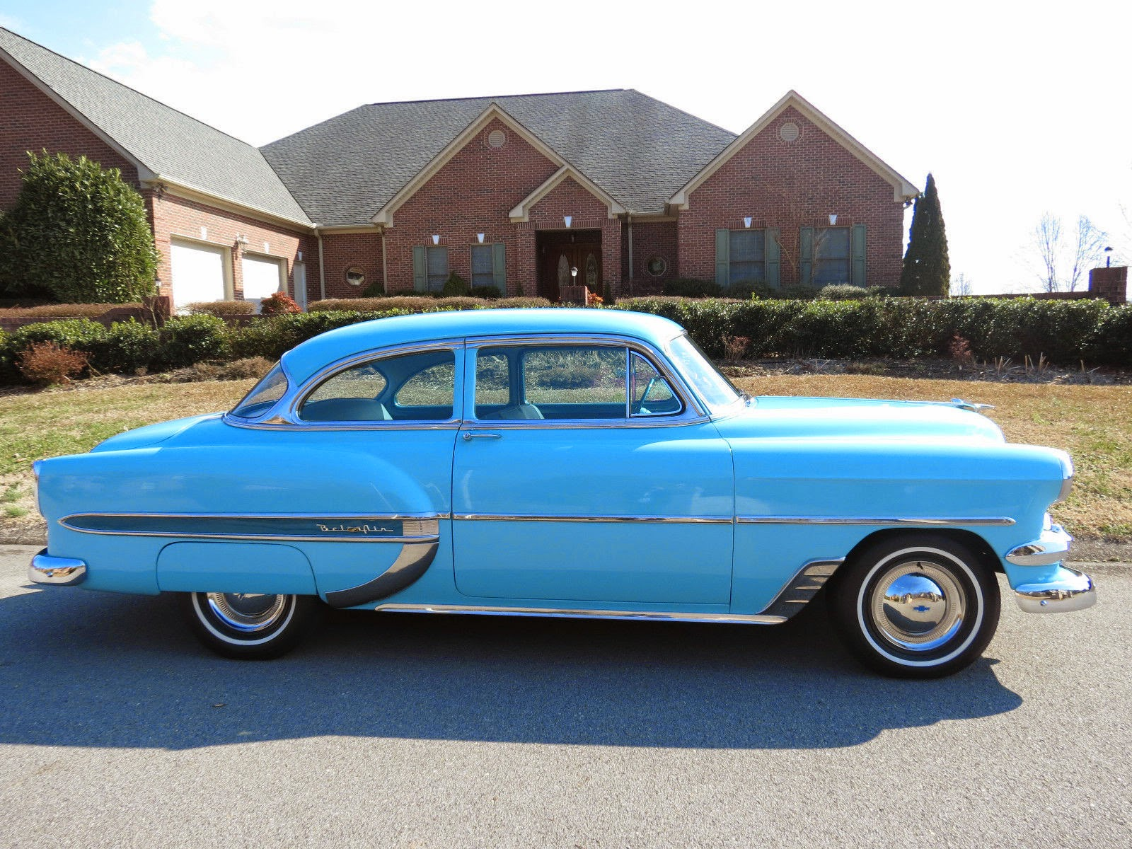 All american classic cars 1954 chevrolet bel air 2 door sedan for 1954 belair 4 door