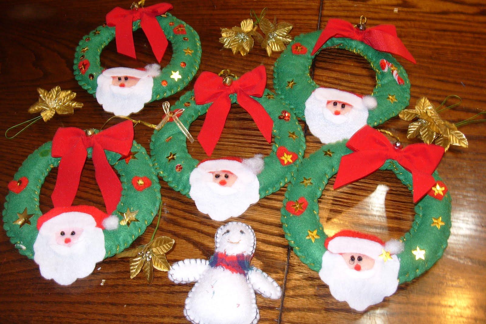 Set De Baño En Pano Lenci:Manualidades De Navidad Para Preescolares